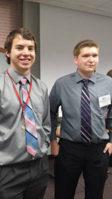 Zechariah Lefholz (19) and Michael Alexander (18) both MADE Competition Competitors and UCM Business Camp graduates.